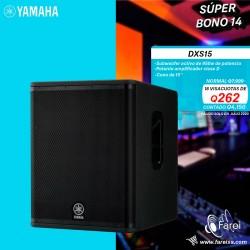 "DXS15 YAMAHA SUBWOOFER AMPLIFICADO DE 950w Y 15"""