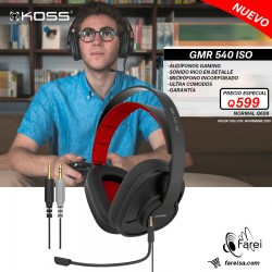 GMR540 ISO KOSS AURICULARES OVER EAR GAMING CERRADOS