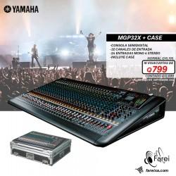 MGP32X + CASE YAMAHA CONSOLA DE 32 CANALES CON CASE