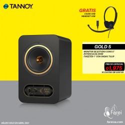 "GOLD 5 TANNOY MONITOR DE REFERENCIA DE 5"""
