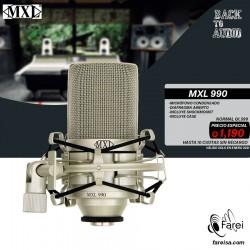 990 MXL MICROFONO PROFESIONAL CARDIOIDE DE CONDENSADOR