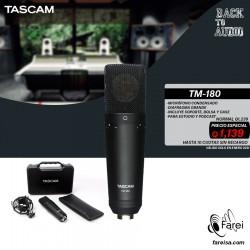TM-180 TASCAM MICROFONO PROFESIONAL DE CONDENSADOR