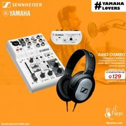 COMBO YAMAHA AG03 + SENNHEISER HD206