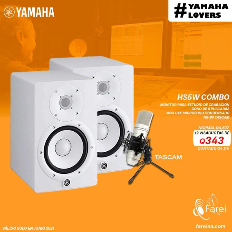 COMBO YAMAHA HS7W + TASCAM TM-180