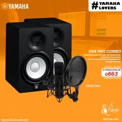 COMBO YAMAHA HS8 + TASCAM TM-280