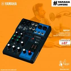 MG06 YAMAHA CONSOLA ANALOGA DE 6 CANALES