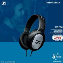 HD206 SENNHEISER AURICULARES OVER EAR PROFESIONALES PARA MONITOREO