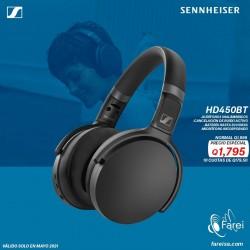 HD450BT SENNHEISER AURICULARES INALAMBRICOS OVER EAR PARA ENTRETENIMIENTO CON CANCELACION DE SONIDO