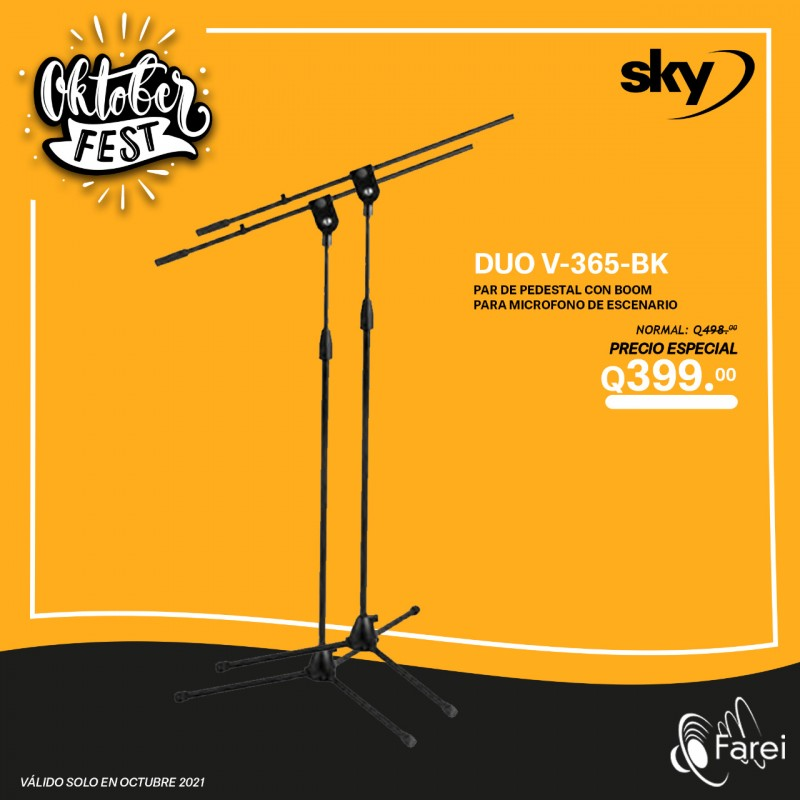V365-BK SKY STAND CON BOOM PARA MICROFONO DE MANO