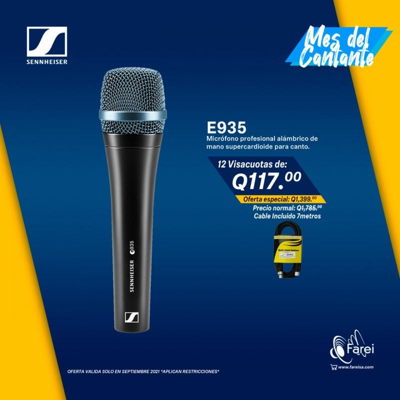 E935 SENNHEISER MICROFONO DE MANO DINAMICO CARDIOIDE