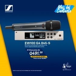 EW100 G4-845S SENNHEISER MICROFONO PROFESIONAL INALAMBRICO DE MANO SUPERCARDIOIDE