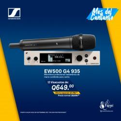 EW500 G4-935 SENNHEISER MICROFONO PROFESIONAL INALAMBRICO DE MANO CARDIOIDE