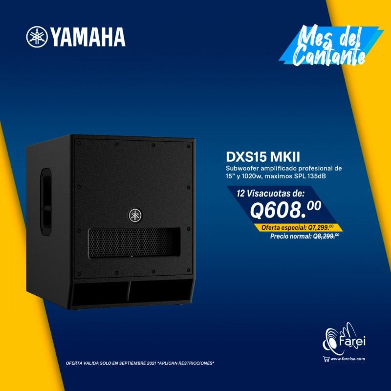 "DXS15 MKII YAMAHA SUBWOOFER PROFESIONAL AMPLIFICADO DE 1020W Y 15"""
