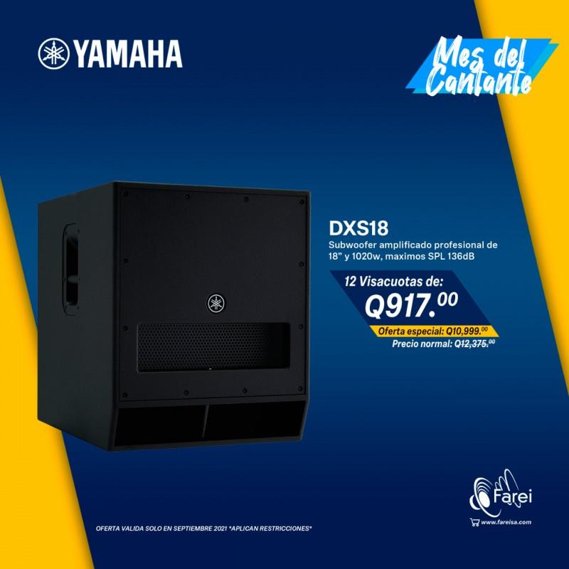 "DXS18 YAMAHA, SUBWOOFER AMPLIFICADO DE 1020W Y 18"""