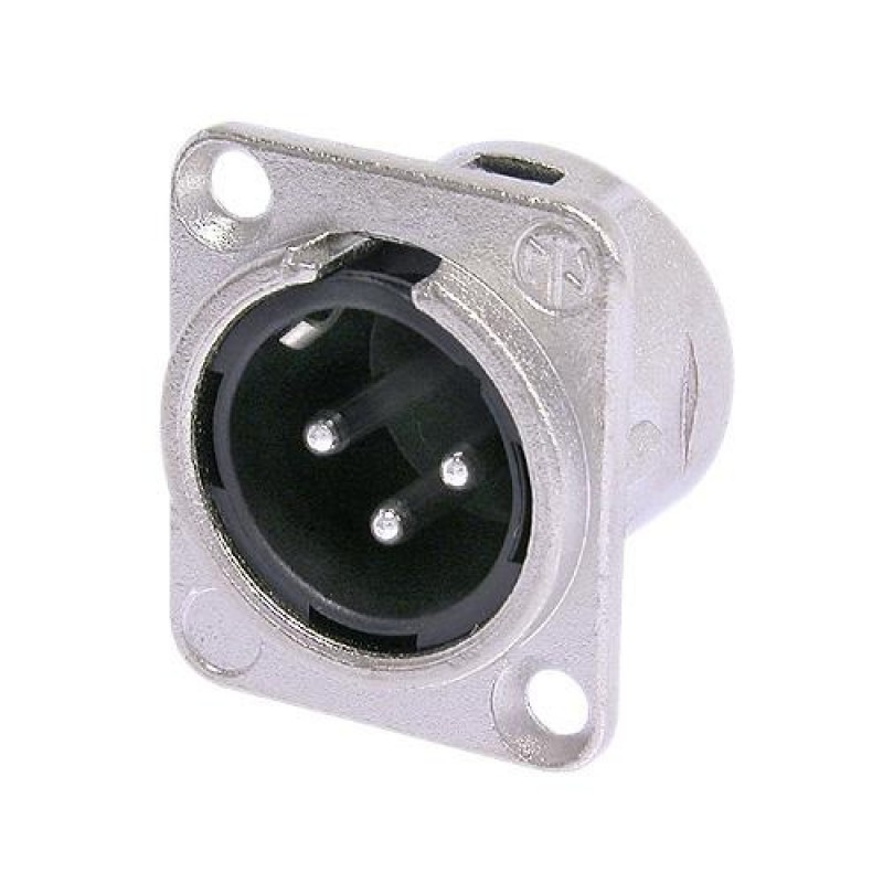 NC3MD-L-1 Conector de Chasis XLR Macho