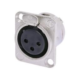 NC3FD-L-1 Conector de Chasis XLR Hembra