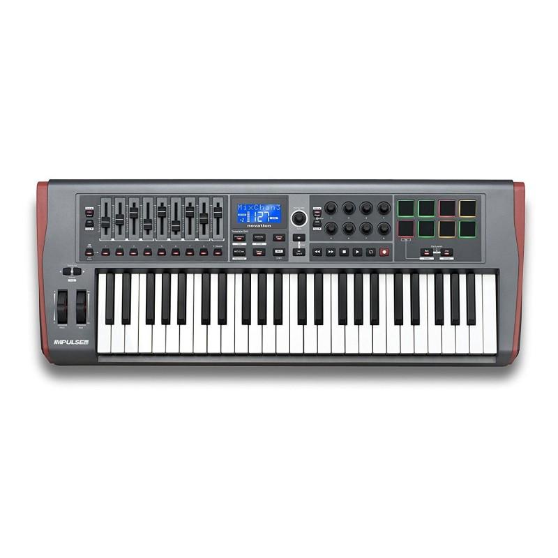 IMPULSE 49 NOVATION CONTROLADOR MIDI USB DE 49 TECLAS
