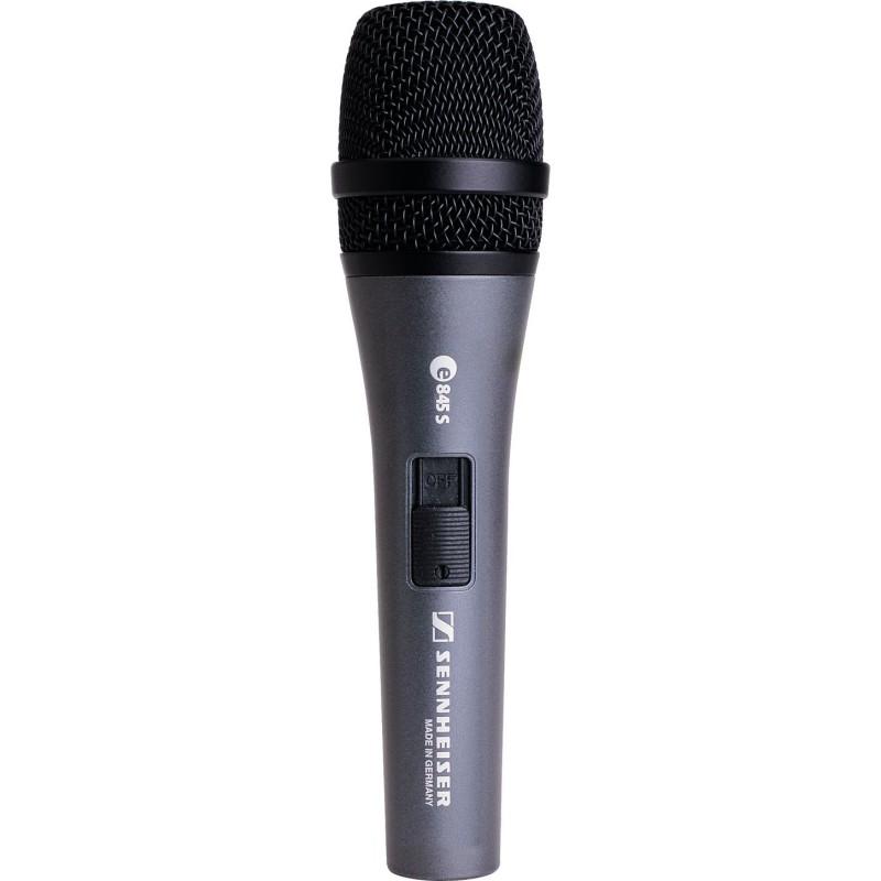 E845S SENNHEISER MICROFONO PROFESIONAL DE MANO PARA CANTO Y VOCES