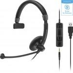 HEADSET MONOAURAL PARA OFICINA Y TELEFONO SENNHEISER SC-45 USB
