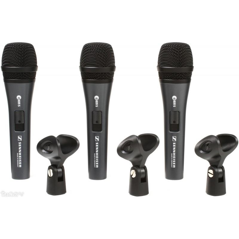THREEPACK e835s     set de 3 micrófonos