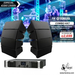 COMBO SISTEMA DE AUDIO LINEAL AEREO TOA HX7 750W + AMPLIFICADOR YAMAHA PX8 1600W