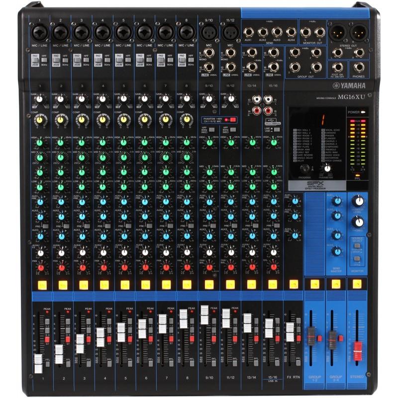 MG16XU Consola análoga de 16 entradas de línea. CON EFECTOS