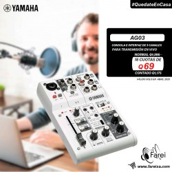 AG03 YAMAHA INTERFAZ DE AUDIO DE 3 CANALES